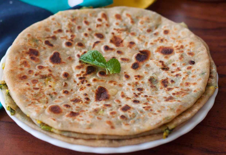 Onion Paneer Paratha Recipe - foodiewish